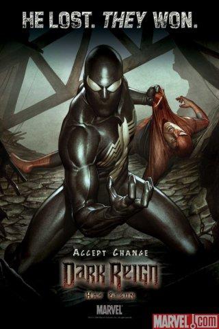 Паркер человек паук черный костюм